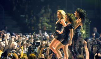 """Die Sängerinnen Mandy Capristo, Bahar Kizil und Senna Guemmour der Mädchenband """"Monrose"""" im Jahr 2008. (Foto)"""