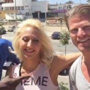 Hoher Besuch: Ex-Bachelor Paul Janke besucht Hans Sarpei beim Tanztraining auf Mallorca.