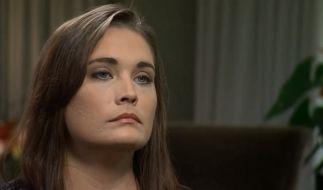 Jennifer Caswell bei ihrem Interview im US-Fernsehen. (Foto)