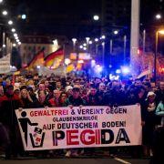 Neue Studie zur Dresdner Pegida: Rechts ab «ins Nirwana» (Foto)