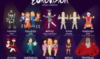 Der Eurovision Song Contest hat so manches fragwürdige Outfit hervorgebracht. (Foto)