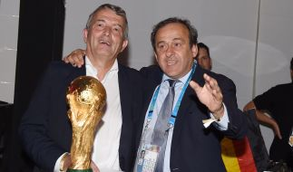 Uefa-Präsident Michel Platini und DFB-Präsident Wolfgang Niersbach. (Foto)