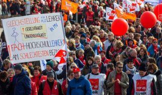 Lehrerstreik. (Foto)