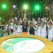 In Bildern: Wolfsburgs wilde Pokalfeier (Foto)