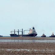 Havarierter Frachter erreicht Wilhelmshaven (Foto)