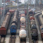 Konjunkturabkühlung: Güterverkehr auf der Schiene rückläufig (Foto)