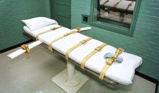 Die Todeskandidaten werden auf einem Bett fest geschnallt. Dann wird das tödliche Gift gespritzt. (Foto)