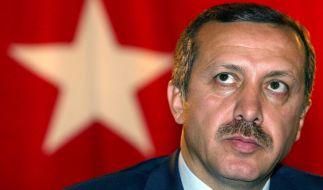 Der türkische Präsident Erdogan thront auf goldenem WC. (Foto)