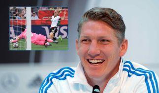 DFB-Kapitän Bastian Schweinsteiger findet: Mehr Menschen sollten Frauen-Fußball schauen. (Foto)
