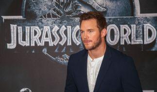 """Chris Pratt war in Berlin zu Gast, um seinen Film """"Jurassic World"""" vorzustellen. (Foto)"""