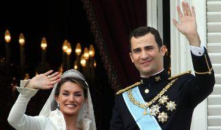 Letizia und Felipe strahlten am Hochzeitstag um die Wette. (Foto)
