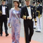 Das schwedisches Königspaar und die Eltern des Bräutigams: Königin Silvia und König Carl Gustaf.