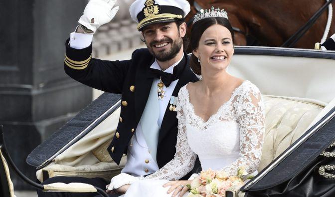 Die Kutschfahrt des Brautpaares.