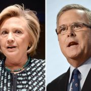 US-Wahlkampf:Hillary Clinton und Jeb Bush laufen sich warm (Foto)