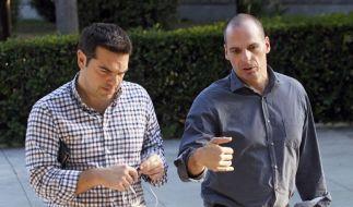 Griechenlands Regierungschef Tsipras und Finanzminister Varoufakis pokern hoch. (Foto)