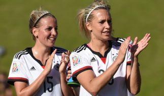 Deutschland steht im Viertelfinale der Frauenfußball-WM 2015. (Foto)