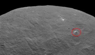 Die weiße Pyramide von Ceres. (Foto)