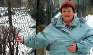 Regina Zindler erlangte mit ihrem Maschendrahtzaun zweifelhafte Berühmtheit. (Foto)
