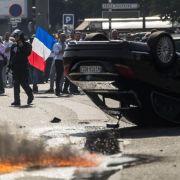 Taxi-Protest gegen Uber löst Verkehrschaos in Frankreich aus (Foto)