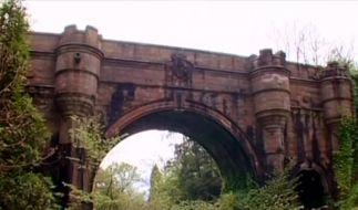 Die Hunde-Selbstmordbrücke in West Dunbartonshire, Schottland. (Foto)