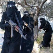 Gruseliger Anblick: Bewaffnete ISIS-Kämpfer.