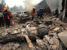 Das Flugzeug stürzte über der Stadt Medan ab. (Foto)
