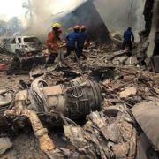 Militärmaschine über Wohngebiet gecrasht - 38 Tote (Foto)