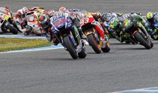 Zum neunten Rennen der MotoGP-Saison heizten Lorenzo, Marquez und Co. über den Sachsenring. (Foto)