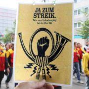 Bundesagentur: Post-Streiks womöglich nicht korrekt gemeldet (Foto)