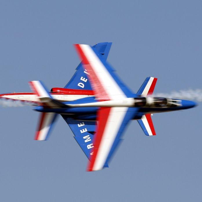 Vive la France! Franzosen feierten mit Kampffliegern (Foto)