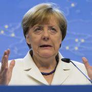 Mehrheit mit Merkels Kurs bei Griechenland-Rettung zufrieden (Foto)