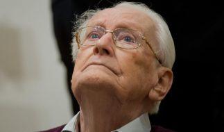 Der frühere SS-Mann Oskar Gröning wurde vom Landgericht Lüneburg zu vier Jahren Haft verurteilt. (Foto)
