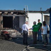Brandanschlag auf Asylbewerberunterkunft in Bayern (Foto)