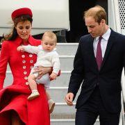 Prinz George bei seinem ersten offiziellen Staats-Besuch in Neuseeland im April 2014.