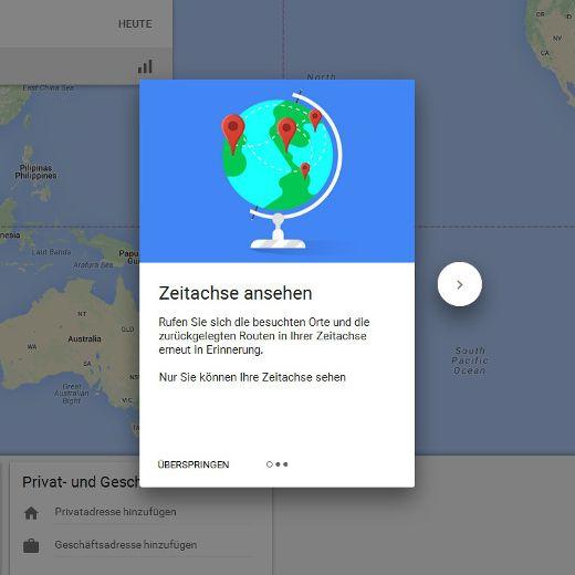 So deaktivieren Sie die neue Zeitleiste bei Google Maps (Foto)