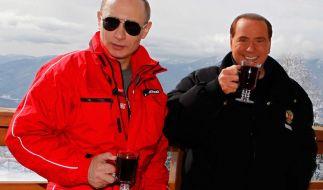"""""""Ich bin wie ein großer Bruder für ihn"""", sagt Berlusconi über seine Freundschaft zu Putin. (Foto)"""