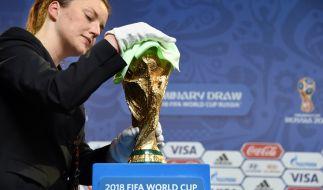Am 25. Juli werden in St. Petersburg die Vorrunden-Gruppen für die WM 2018 ausgelost. (Foto)