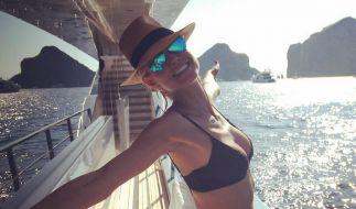 Braun gebrannt und gut gelaunt war Heidi Klum auch schon vor ihrem Urlaub. (Foto)