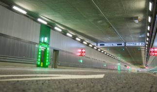 Luise-Kiesselbach-Tunnel in München. (Foto)