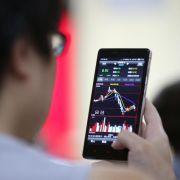 Achterbahnfahrt an Chinas Börsen (Foto)
