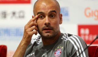 Pep Guardiola hat sich auf der Pressekonferenz zu seiner Zukunft geäußert. (Foto)