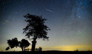 Am 12.08.2015 flitzen hunderte Sternschnuppen über den Nachthimmel. (Foto)