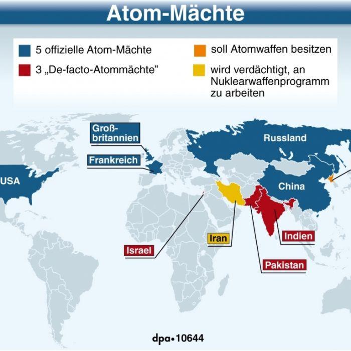 Diese Staaten sollen noch immer Atombomben produzieren (Foto)
