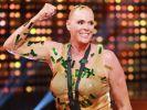 Strahlende Siegerin: Brigitte Nielsen darf noch einmal in den Dschungel. (Foto)