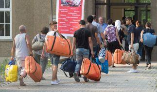 Erstaufnahmeeinrichtung für Asylbewerber in Leipzig. (Foto)