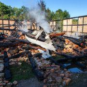 Nach Feuer bei Nazi-Gegnern: Polizei findet Brandbeschleuniger (Foto)
