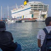 Kos: Unterbringung von Flüchtlingen auf Fähre verzögert (Foto)