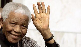 Friedensnobelpreisträger und Nationalheld Nelson Mandela. (Foto)