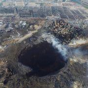 Katastrophe in Tianjin: Behörden nehmen vier Manager fest (Foto)