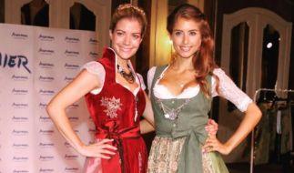 Münchner Kindl: Cathy (27) mit ihrer kleinen Schwester Vanessa Fischer (25). (Foto)